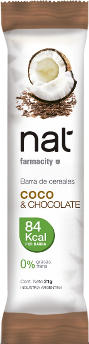 Barra Cereales Coco y Chocolate x 21 gr