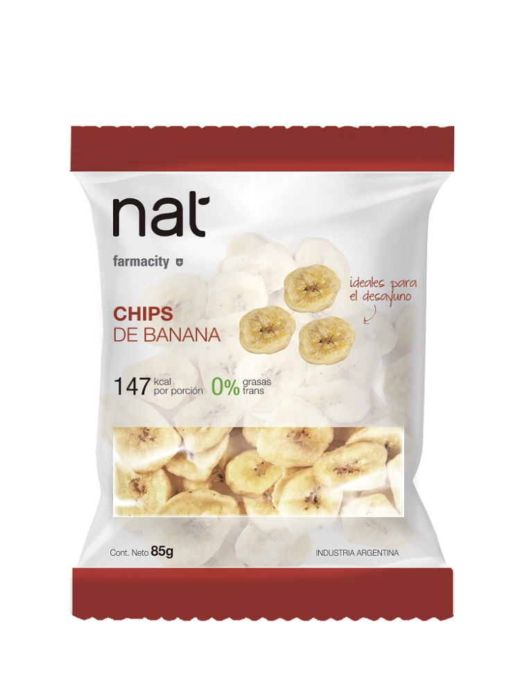 Chips de Banana Nat x 85 gr