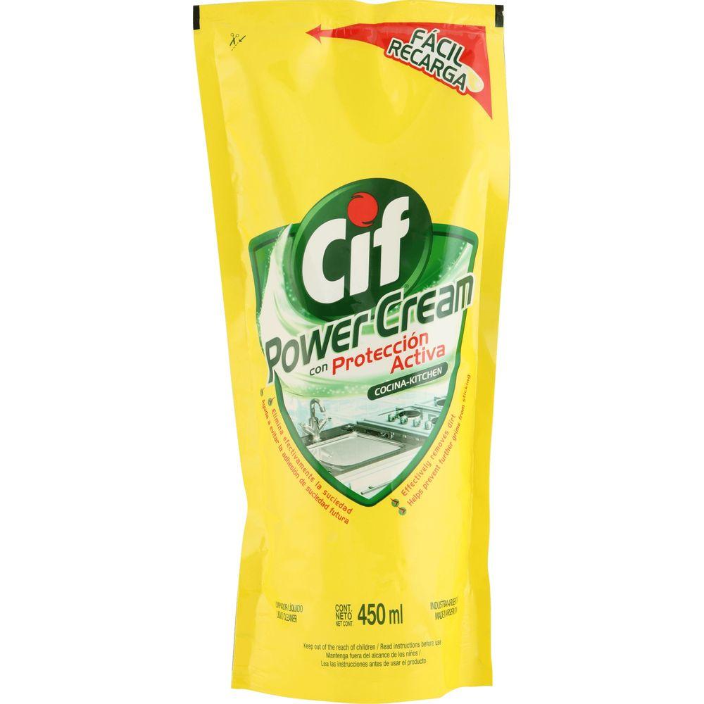 Limpiador-Liquido-Cif-power-cream-cocina-repuesto-x-450-ml