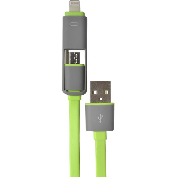 Cable-con-microusb-y-usb-lightning--para-iphone---2-en-1-Verde