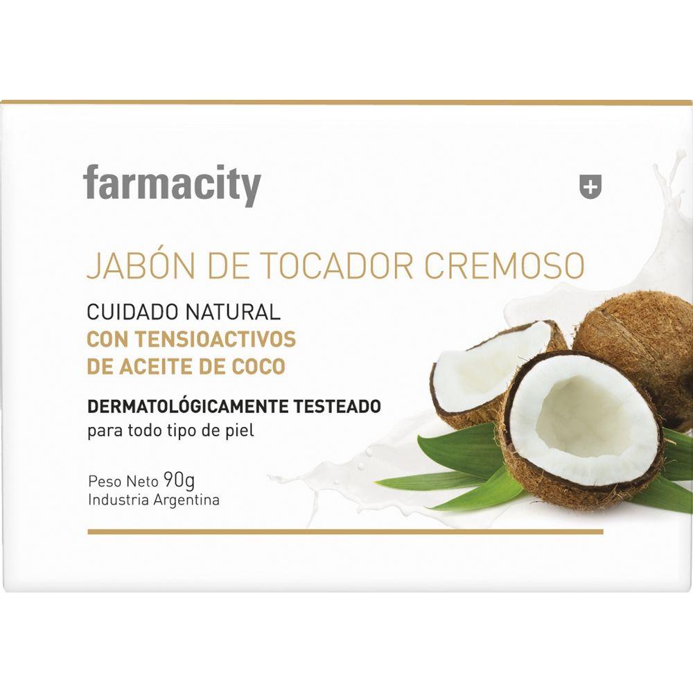 Jabon-Farmacity-Cremoso-con-aroma-a-Coco-x-90gr