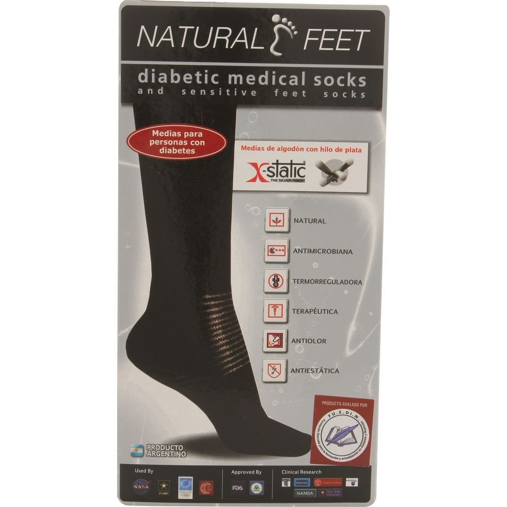 Medias-con-hilos-de-plata-y-costura-plana-Natural-Feet-para-pies-diabeticos-o-sensibles-del-38-al-43-azul-x-2-un