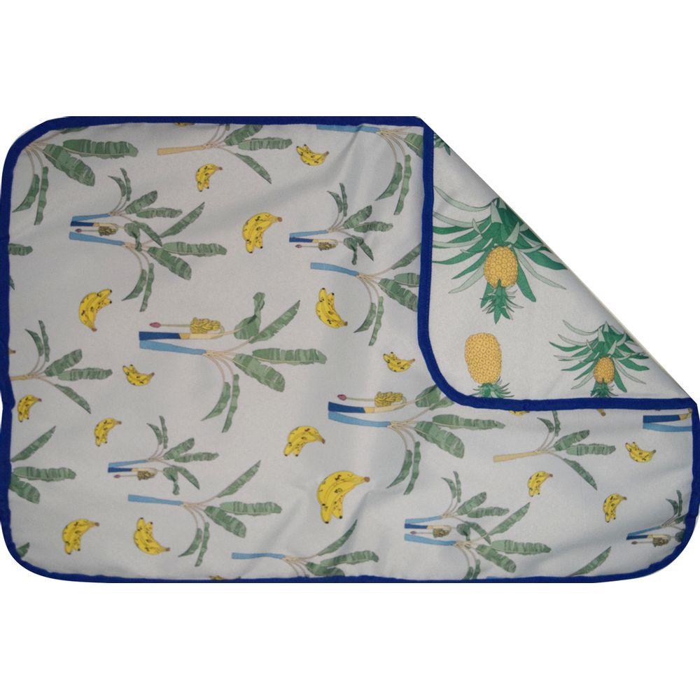 Cambiador-estampado-en-tela-plastica-Ananas-y-Bananeras