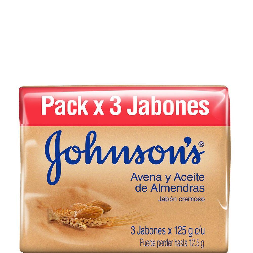 Jabon-Johnson-s-Adulto-Avena-y-Aceite-de-Almendras-Pack-en-barra-3-X-125gr