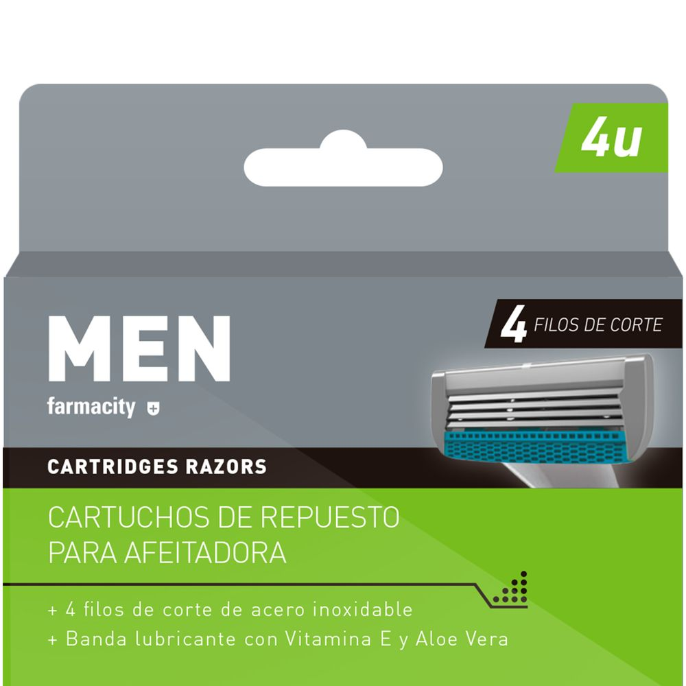 Cartuchos-de-repuesto-Maquina-Men-Farmacity-Turb-4-. MASIVO 2X1 INDIVIDUAL 6 f1cc41d76653