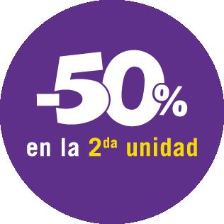 2° al 50%