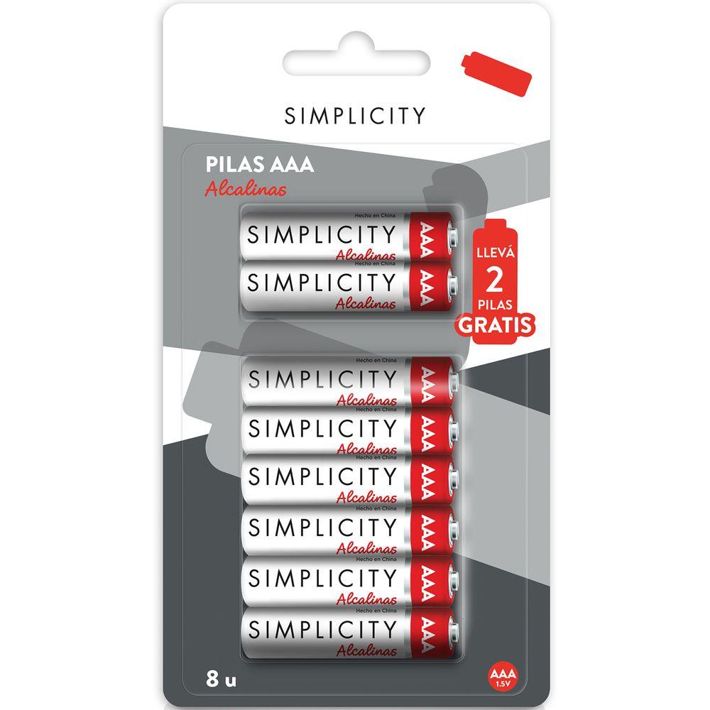 pilas-alcalinas-simplicity-aaa-x-6-un-mas-2-gratis