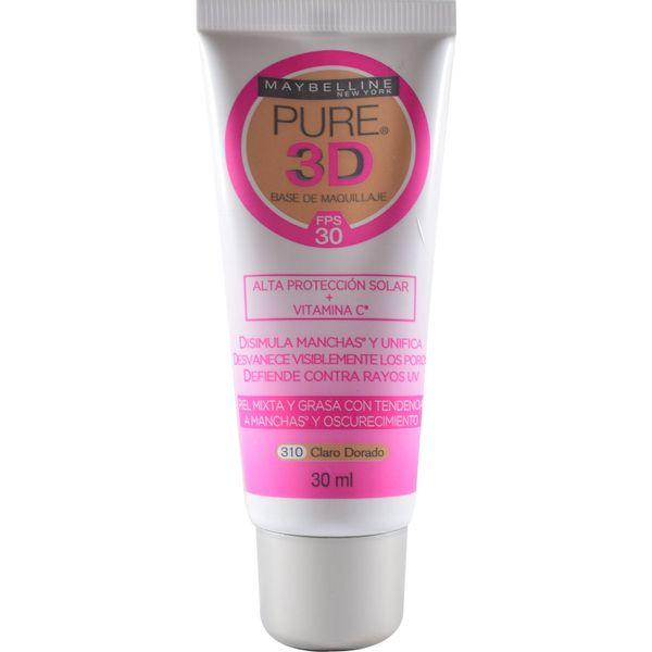 base-de-maquillaje-pure-3d-claro-dorado-x-30-ml