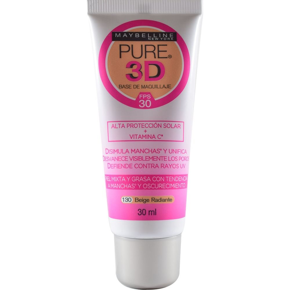 base-de-maquillaje-pure-3d-beige-radiante-x-30-ml