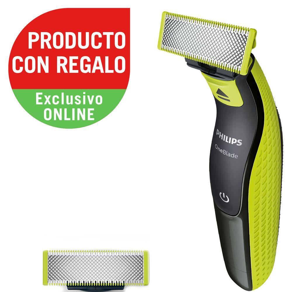 combo-de-afeitadora-philips-oneBlade-qp252110-repuesto-hilips-de-regalo.