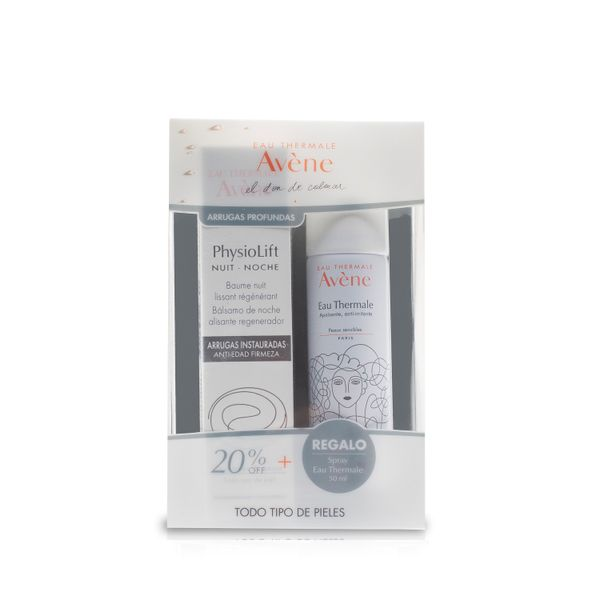 pack-crema-de-noche-physiolif-agua-termal-avene-x-50-ml-de-regalo