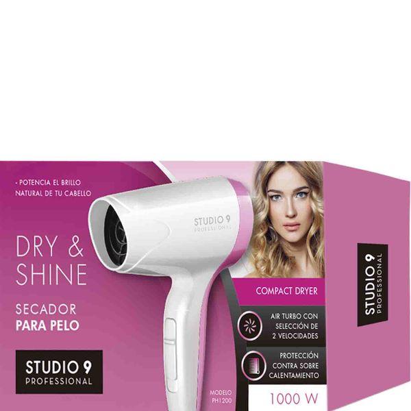 secador-de-pelo-studio-9-professional-1000-w-blanco-y-rosa