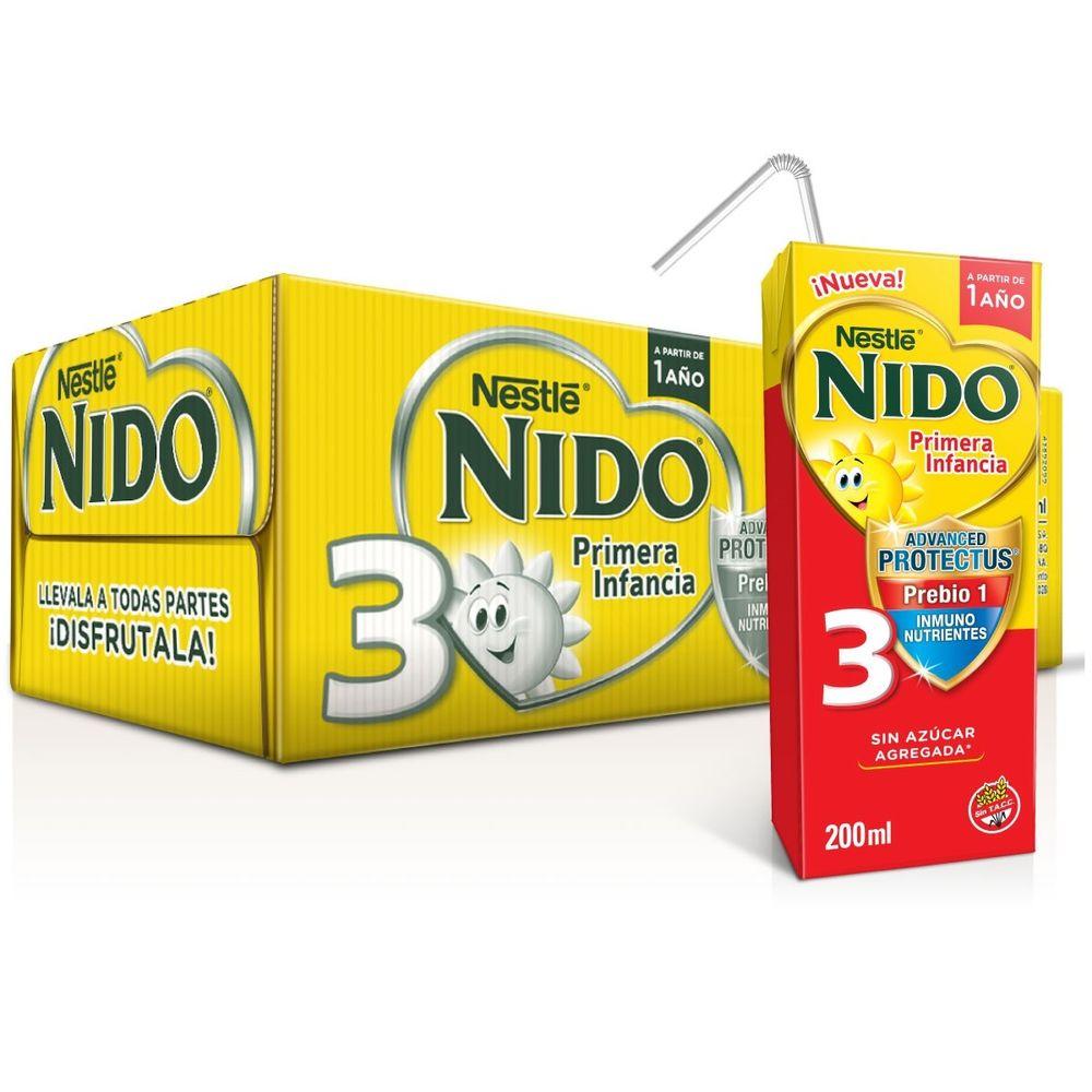 informacion nutricional leche nido 3+