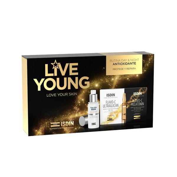 pack-isdinceutics-live-young-age-10-10-repair-melatonin-ultraglican-x-8-ampollas