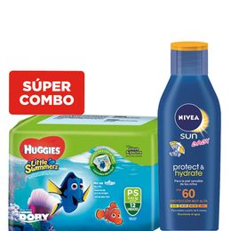 kit-un-protector-solar-nivea-hidratante-para-bebes-fps-60-mas-un-pack-pañales-huggies-little-swimmers-p-x-12-un