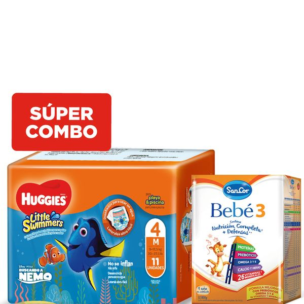 kit-una-leche-sancor-bebe-3-x-800-gr-y-un-pack-pañales-huggies-little-swimmers-m-x-11-un