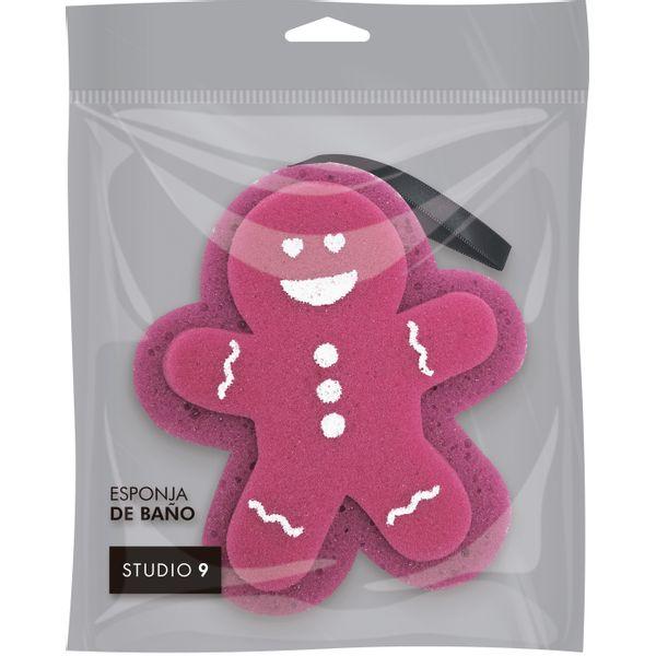 esponja-de-bano-studio-9-con-forma-de-gingerbread