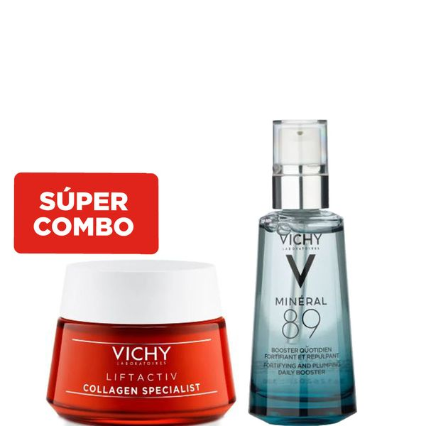 combo-mineral-89-concentrado-fortificante-y-reconstituyente-crema-de-dia-vichy-liftactiv-collagen-specialist-x-50-ml