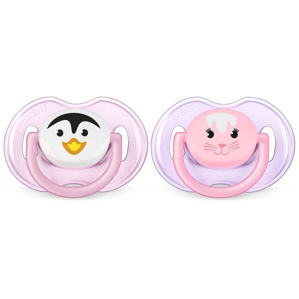 chupete-avent-silicona-suave-0-6-meses-rosa-de-animales-x-2-un