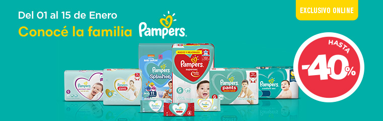 Pampers pañales + toallas NewHome