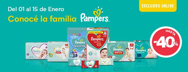 Pampers pañal + toallita NewHome
