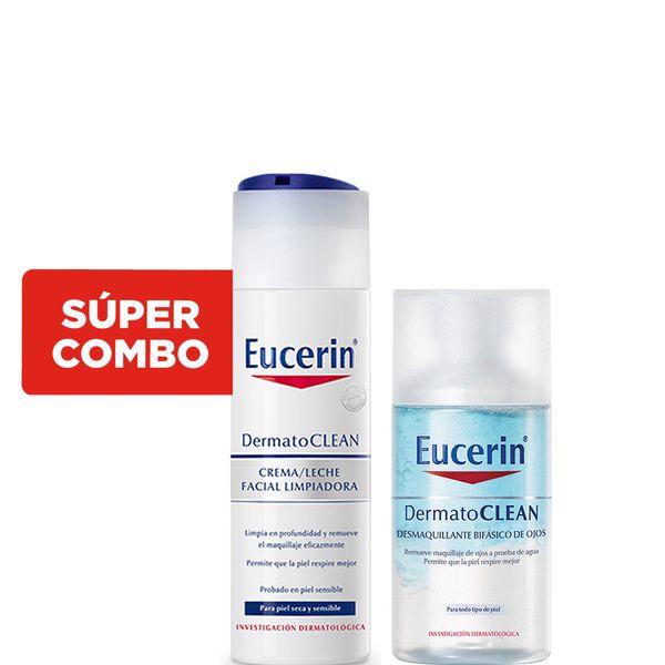 kit-con-desmaquillante-eucerin-dermatoclean-bifasico-de-ojos-x-125-ml-leche-limpiadora-facial-eucerin-dermatoclean-x-200-ml