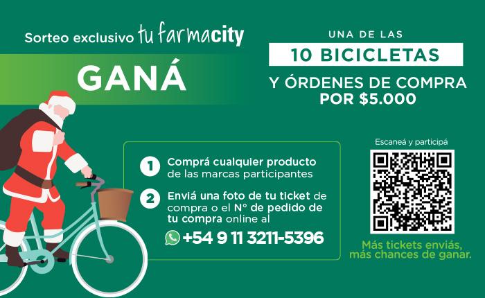 Farmacity Sorteo bicicleta NewHome