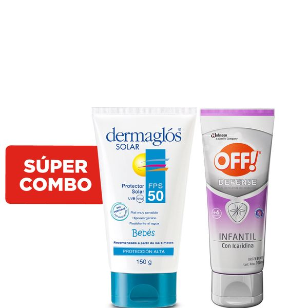 combo-protector-solar-bebes-dermaglos-fps-50-x-150-g-mas-repelente-de-mosquitos-off-defense-infantil-gel-x-100-ml