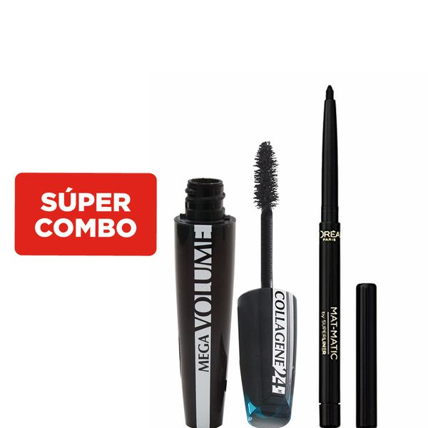 combo-loreal-paris-delineador-de-ojos-superliner-mat-matic---mascara-de-pestanas-mega-volume-collagene-24hs-black