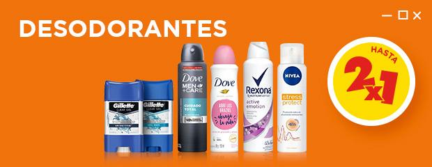 Desodorantes hasta 2x1 Mobile