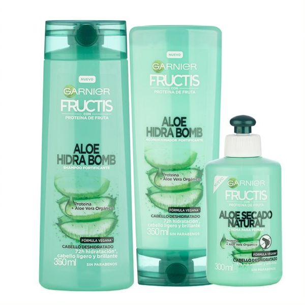 kit-aloe-hidra-bomb-fructis-shampoo-acondicionador-y-crema-para-peinar