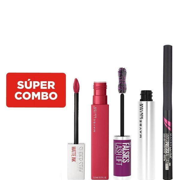combo-maybelline-de-maquillaje-mascara-de-pestanas-falsies-lash-lift-washable-x-9-5-ml-labial-liquido-superstay-matte-ink-x-5-ml-delineador-liquido-de-ojos-hyper-precise-all-day-matte-x-6-g